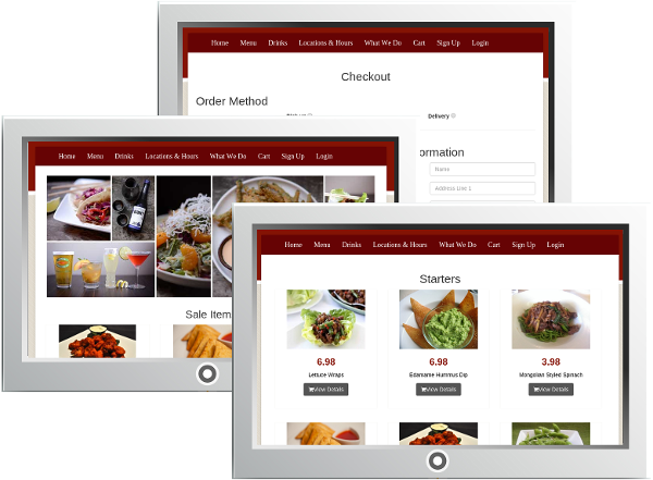 Your site is fully branded to your restaurant at Ordello's Restaurant Website and Online Ordering Service