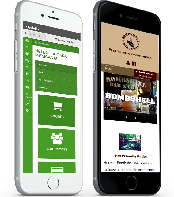 Mobile Phone Ready Sites with Ordello's Restaurant Website and Odering Service